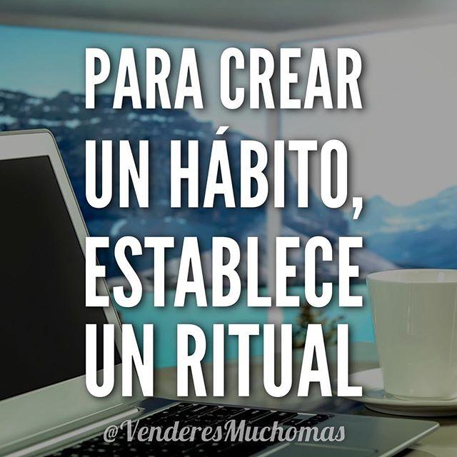 Para crear un hábito, establece un ritual